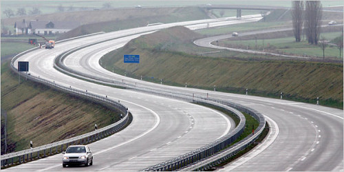 Curvy section of Autobahn